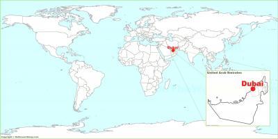Dubaj Zemljevid Zemljevidi Dubaj Zdruzeni Arabski Emirati